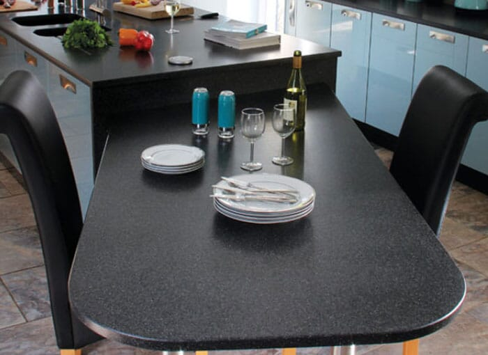 Acrylic Black Worktops