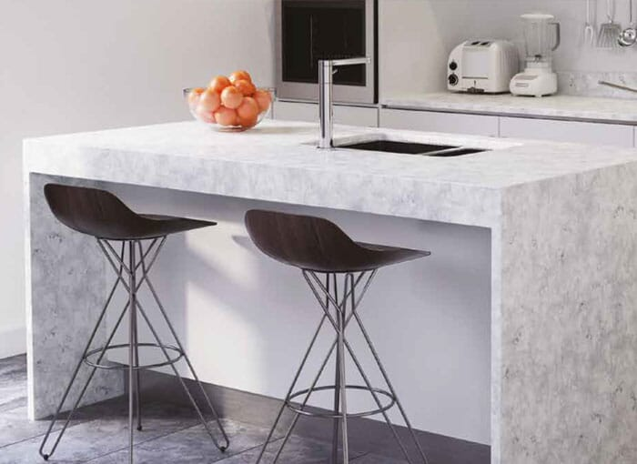 Acrylic Modular Kitchen Worktops