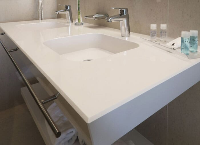 Bathroom White Gloss Worktops