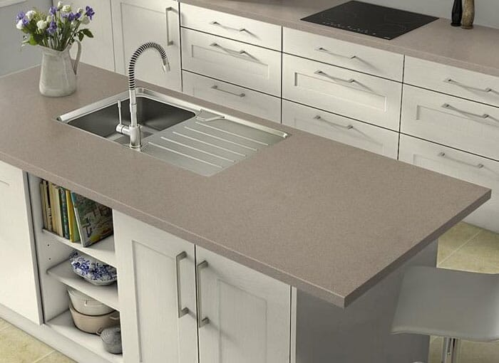 Cream/Beige Earthstone Worktops