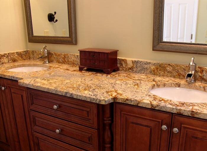 Gold/Yellow Bathroom Worktops