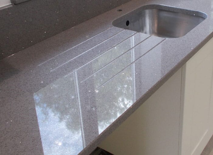 Grey Sparkle Worktops