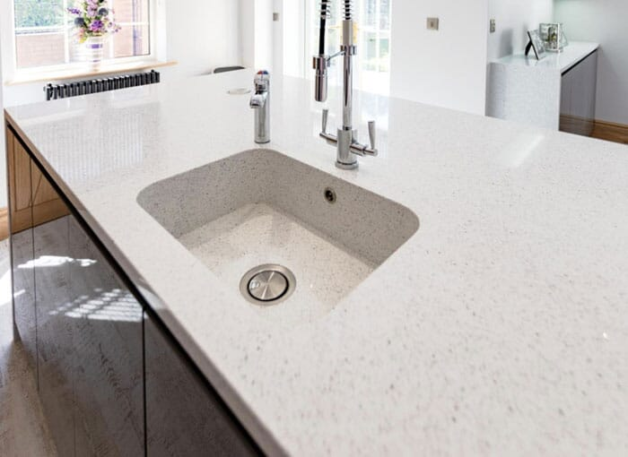 Quartz White Sparkle Worktops