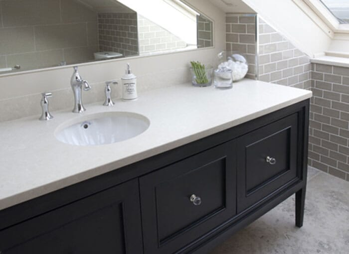 White Bathroom Worktops
